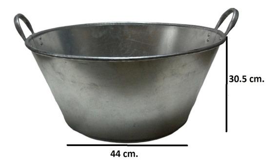Paila Cazo Para Chicharrones Carnitas Galvanizada 60 Cm.