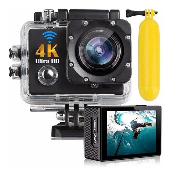 Câmera Action Go Sport Cam Pro Ultra 4k Wifi + Boia Mergulho