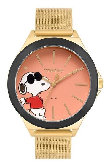 Relógio Touch Unissex Snoopy Trans Dourado Tw2035mqt/4t