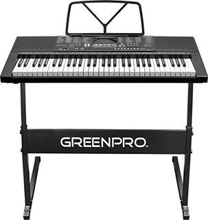 Pantalla Led Con Teclado De Piano Electrónico Portátil Green