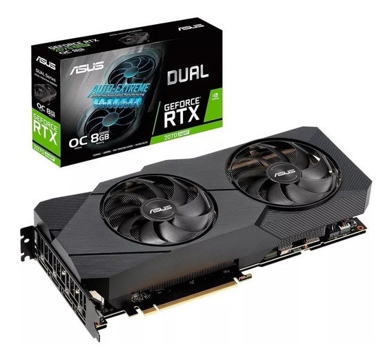 Placa De Video Asus Geforce Rtx 2070 Super 8gb Oc Dual Evo!
