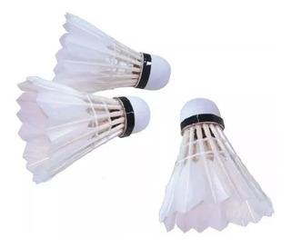 3 Plumas Badminton Sixzero Repuesto Blister Ganso Kit Set Combo