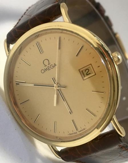 Relógio Omega Unissex Clássico Marrom Envio Imediato