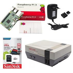 Kit Básico Raspberry Pi 3 - 64gb Case Retroflag Nespi