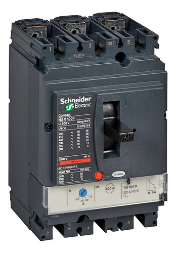 Interruptorautomatico Compact Nsx100f 3p 100a 36ka Tdm80
