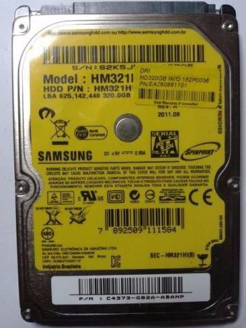 Lote De 5hds Pra Notebook Marcas Samsung E Wd