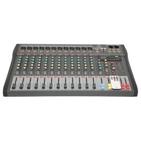Mesa De Som 12ch Display Lcd 110v - Usb+sd+envio Imediato