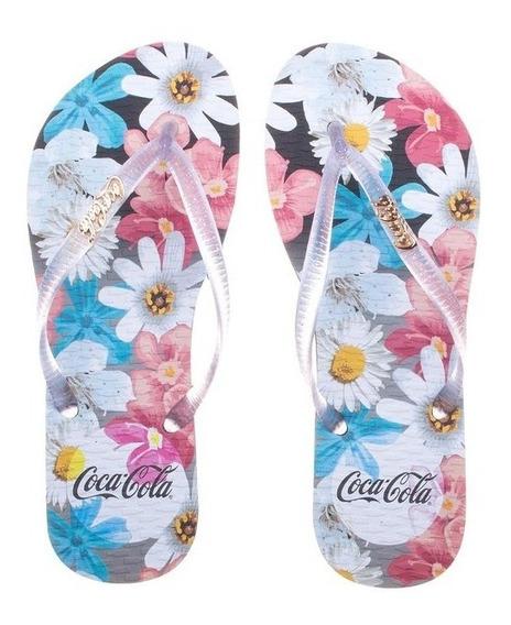 Sandália Feminina Coca-cola Aquarelle Flower Cc2446   Katy