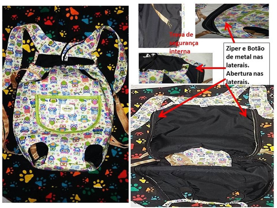 Mochila Canguru Bag Para Animais Acompanha Bone, Frete Grate