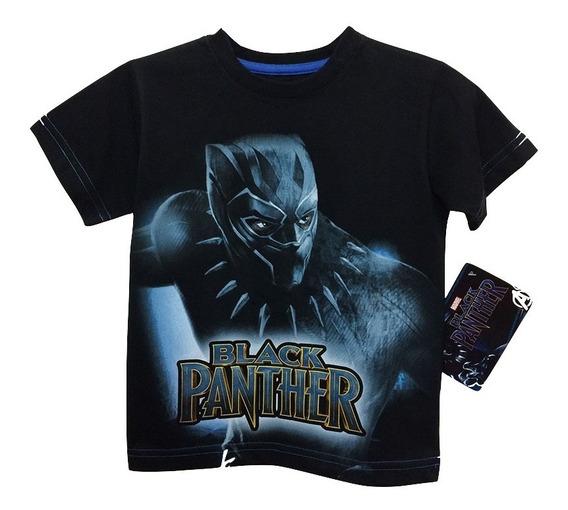Playera De Black Panther Marvel Oficial Para Niños