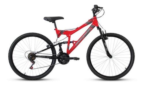 Imagen 1 de 1 de Mountain bike Mercurio Doble Suspensión ZTX DH  2020 R26 18v frenos v-brakes color rojo metalizado/negro