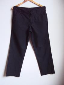 Calça Comprida Masculina Sarja Azul Marinho Corte Reto
