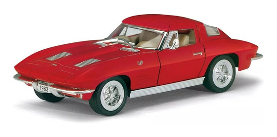 Chevrolet Corvette Sting Ray 1963 Esc 1:36 Kinsmart