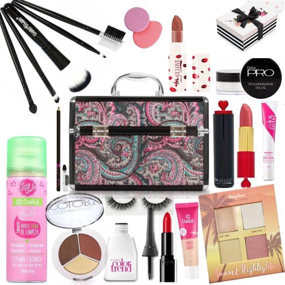 Kit Maleta De Maquiagem Completa Profissional Ruby Rose Avon