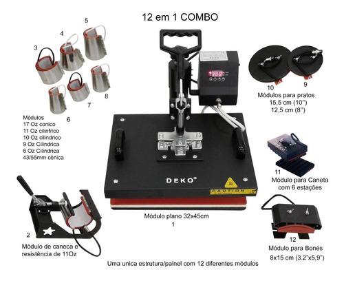 Maquina De Estampar Camisetas Caneca 12em1 Prensa Termica A3