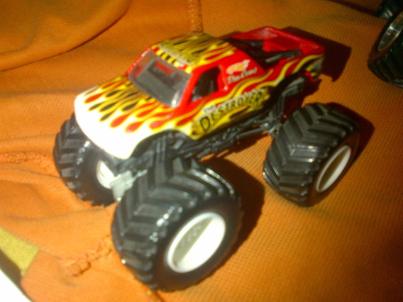 Hot Wheels Monster Jam Destroyer Red A Escala 1.64