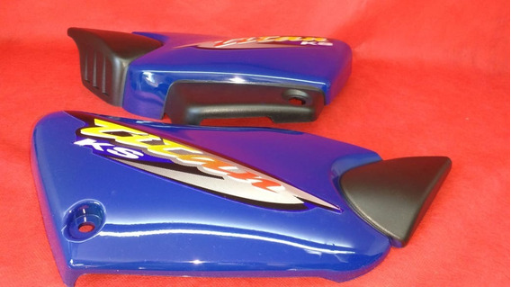 Par Tampa Lateral Titan 125 2001 Ks Azul Com Adesivo