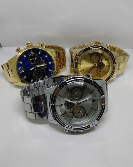 Kit 3 Relógios Quartz