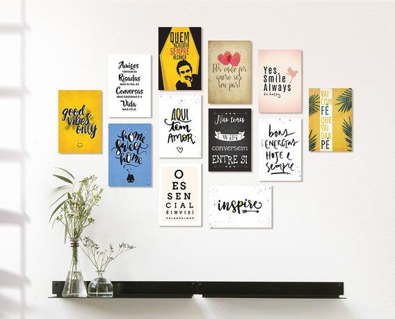 Placas Decorativas Mdf Frases Motivacionais Kit 6 Placas