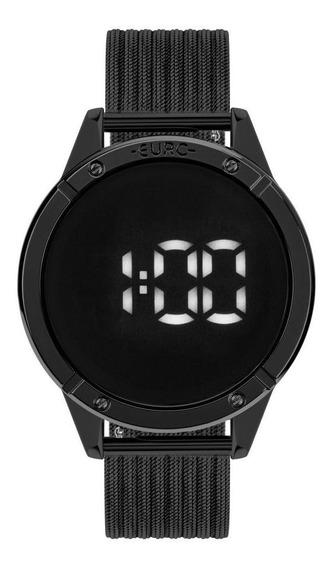 Relógio Feminino Euro Fit Touch Eubj3912ac/4f 43mm Aço Preto