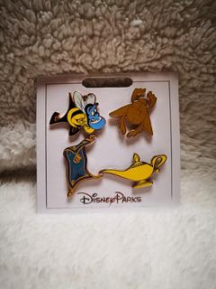 Disney Parks Pin Set Aladdin Genio Lampara Mágica
