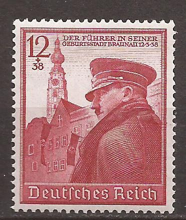 2° Guerra Alemania 1939 Sello Cumpleaños Del Fuhrer Mint 9u$d De Catalogo