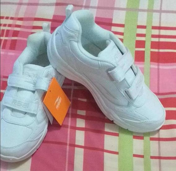 Zapatos Gomas Deportivos Rs21 Unisex Blancos #37