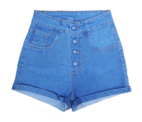 Short Jeans Feminino Stretch Hot Pants Lycra Roupa Feminina