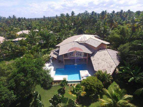 Re/max Vende; Excelente Casa De Alto Padrão Mobiliada Em Condomínio Pé Na Área No Guaiú. - Ca0104