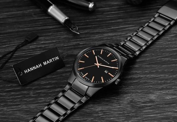 Presente Especial Relógio Masculino Clássico Hannah Martin