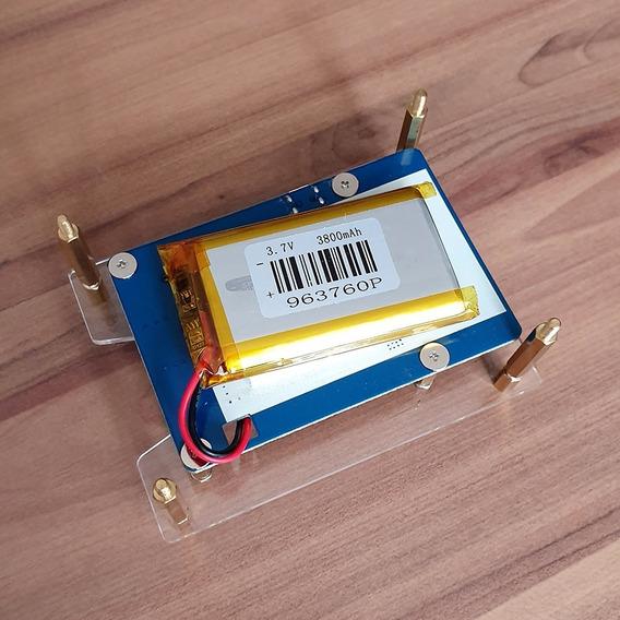 Rpi Powerpack Raspberry Hotspot Bateria 3800 E Case Acrílico
