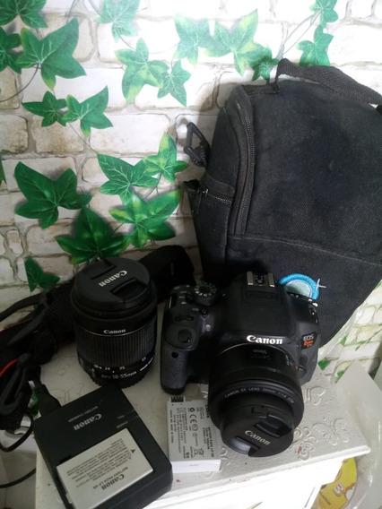 Câmera T5i Com Lente 18-55m/m E Outra 50 M/m E Kit Acessório