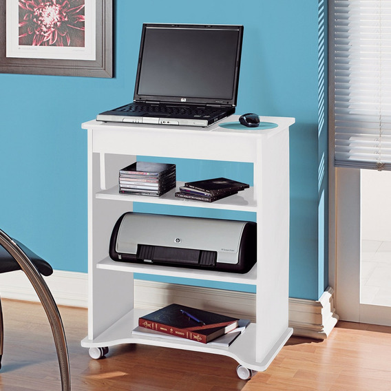 Escrivaninha Para Computador Com Prateleiras Móvel Gf