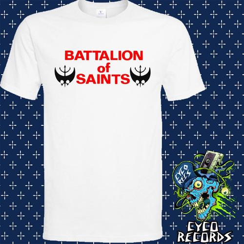 Imagen 1 de 3 de Battalion Of Saints - Logo - Hardcore Punk - Polera- Cyco Re