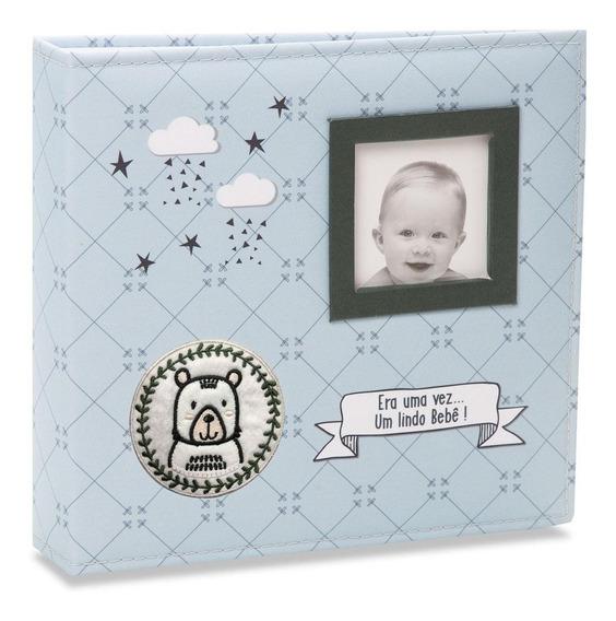 Álbum De Fotos Bebê Tecido 100 Fotos 15x21 813 - Ical