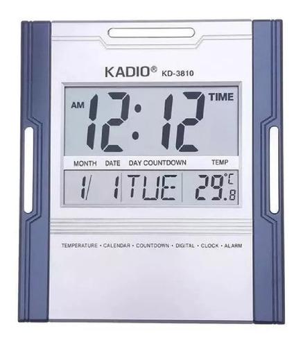 Reloj Pared Kadio Digital Hora Fecha Alarma Termometro