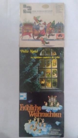 3 Lps Musica De Natal Em Alemao Frete Grátis