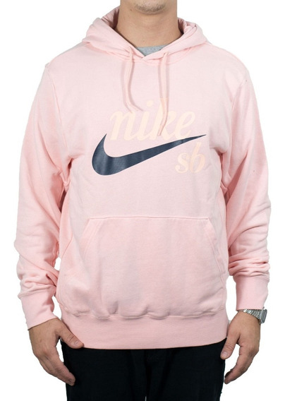 Blusão Nike Sb Hoodie Washed Rosa