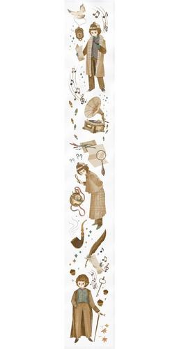 Cinta Transparente Decorativa Importada Cute Kawaii 50 Mm