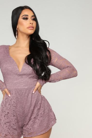 Enterizo Lavanda Fashion Nova Para Dama