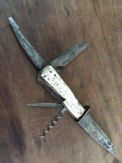 Antiguo Cuchillo Decora Solingen Con Accesorios Década 50