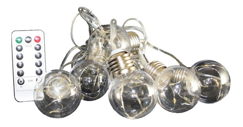 Imagen 1 de 2 de Serie De 10 Luces Led Decorativa, 10 Bulbos, Foco Vintage