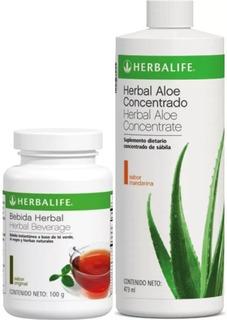 Herbal Aloe Concentrado 473ml + Te Herbal Quemagrasa 102gr