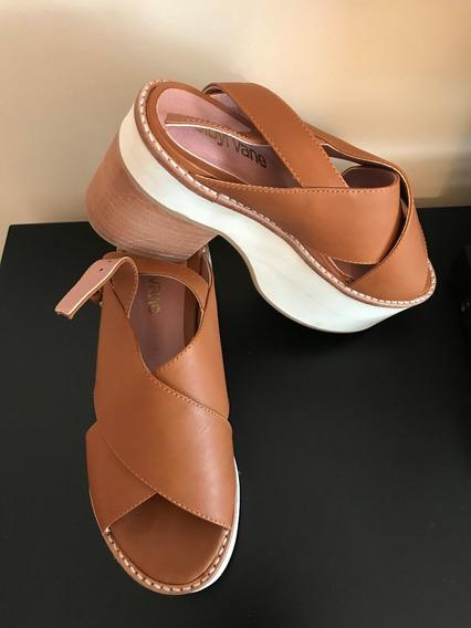 Sandalia Con Plataforma - Sibyl Vane