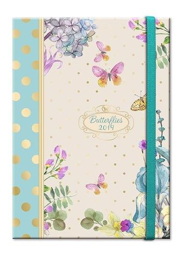 Imagen 1 de 6 de Agenda 2019 Butterfly Book Celeste Remate Envío Gratis Lima