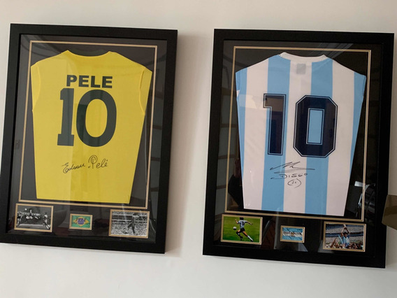 Camisetas Girmadas De Pelé (70) Y Maradona (86)