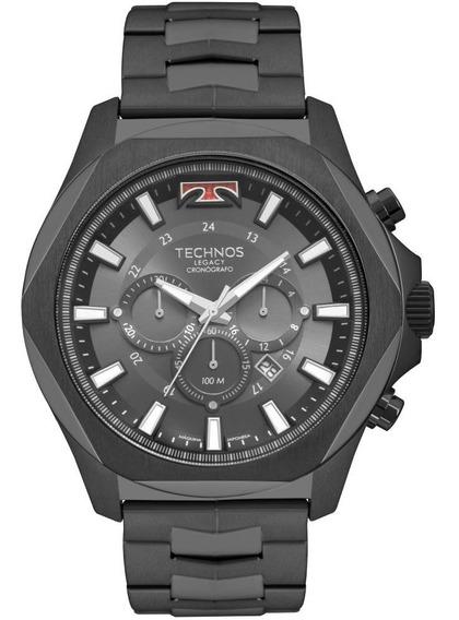 Relógio Masculino Technos Legacy Js26al/4p 53mm Aço Preto