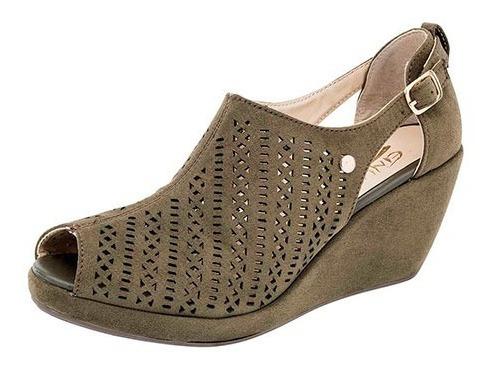 Sandalia Con Plataforma Para Mujer Etnia 344 Ol P19a