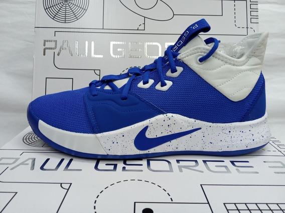 Tenis De Basquetbol Nike Pg 3 Tb Game Royal Originales
