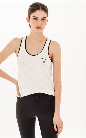 Musculosa Paula Cahen D´anvers ¡oferta! Lino Rojo Off White